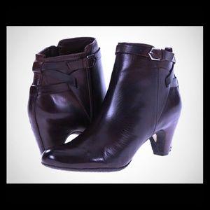 SAM EDELMAN black leather boots Maddox 9
